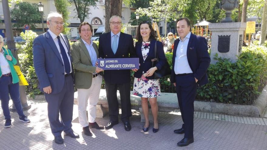 El almirante Cervera dará nombre a unos jardines en Madrid