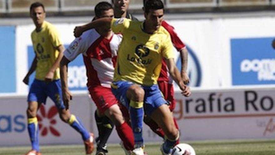 Vicente, durante el último partido en el Gran Canaria. (udlaspalmas.es)