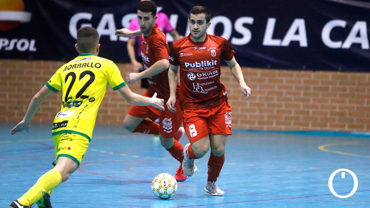 Pedro Catiti, en un partido del Bujalance