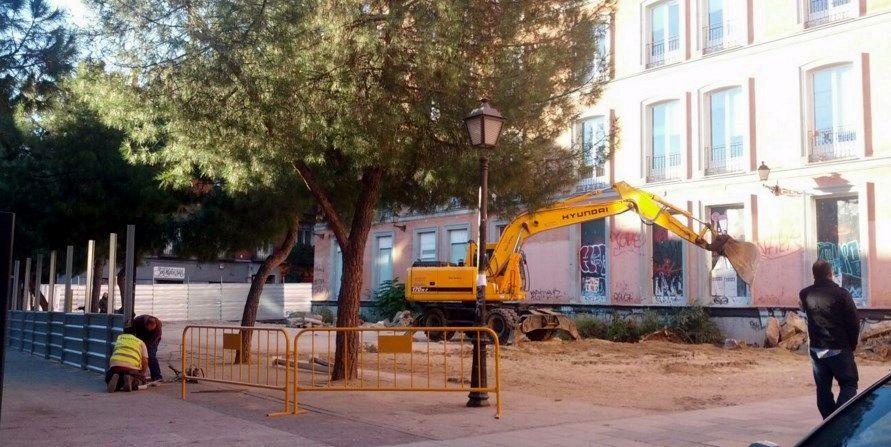 Inicio de las obras en el solar de San Mateo   SOMOS MALASAÑA