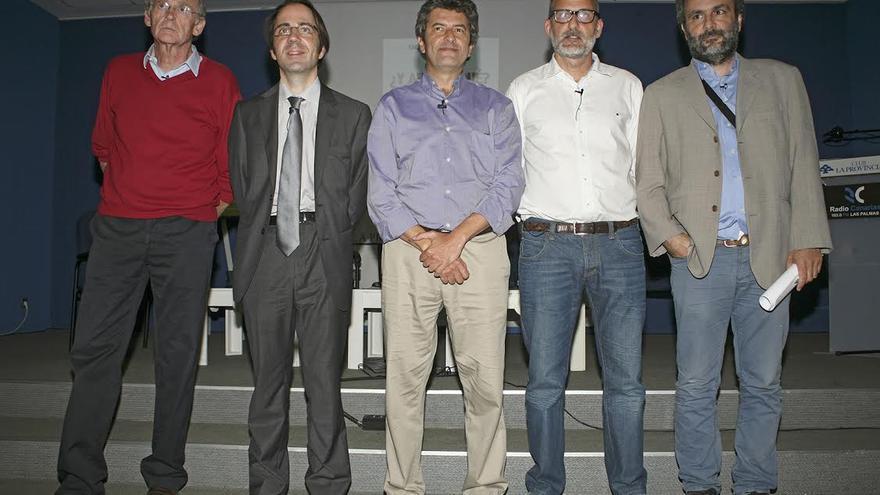 Tomás Van de Walle, Gerardo Díaz, Vicente Mujica, Luis Roca y Juan García Luján. (ALEJANDRO RAMOS)
