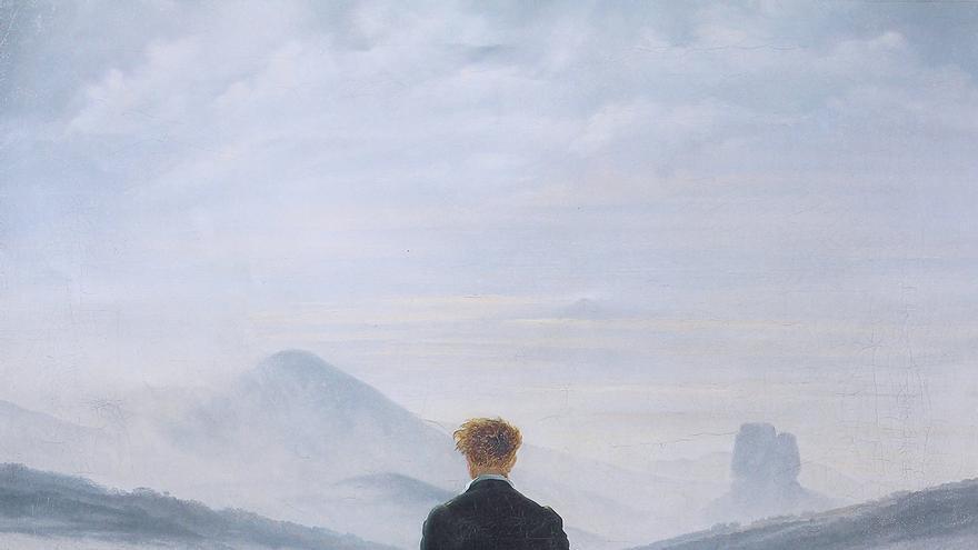 'El caminante sobre el mar de nubes' (1818). | Caspar David Friedrich