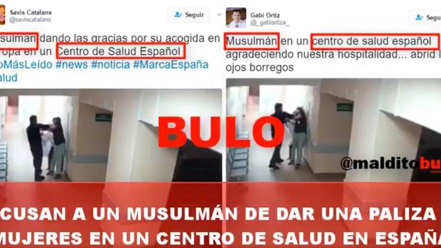 No,este no es un vídeo de un musulmán agrediendo a una enfermera en España. Sucedió en Rusia.