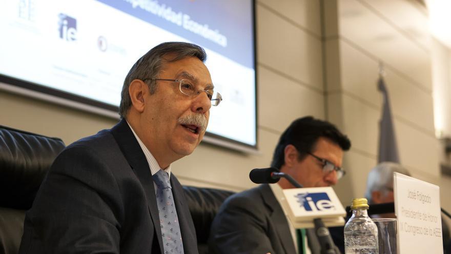 El presidente de REE, José Folgado, junto al ministro de Industria, José Manuel Soria. Foto: REE