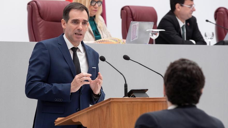 El portavoz del grupo Vox en la Asamblea Regional de Murcia, Juan José Liarte.