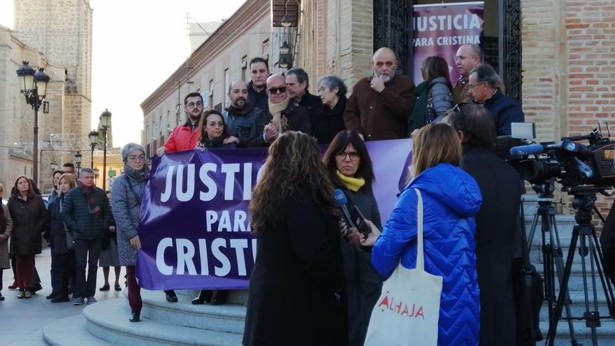 Concentración en Mora en apoyo a la familia de la víctima el pasado 11 de enero / Plataforma 8M Toledo
