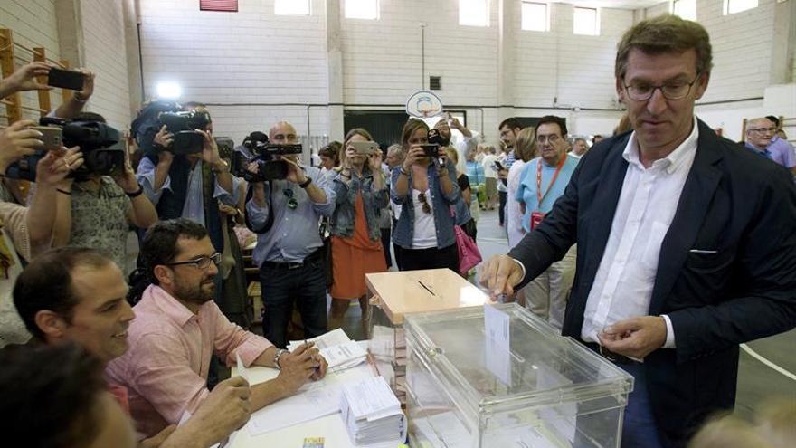 """Feijóo aguarda que en esta """"votación bis"""" se pueda """"desbloquear"""" la situación"""