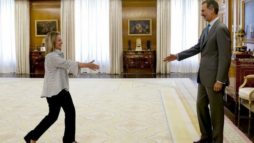 La ronda de consultas de Felipe VI se reanuda con Oramas (CC)