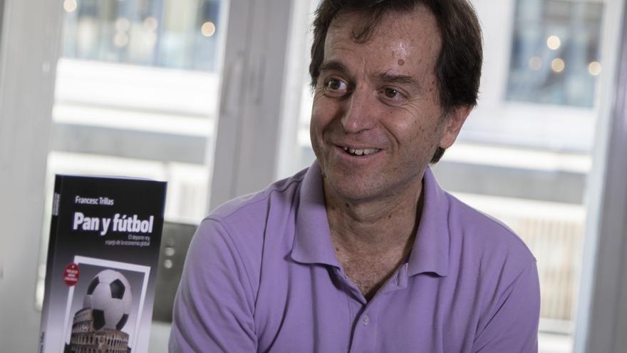 Francesc Trillas, durante la entrevista en la redacción de eldiario.es