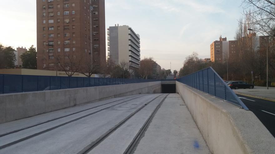 La plataforma de acceso al túnel de la línea 10 finalizada