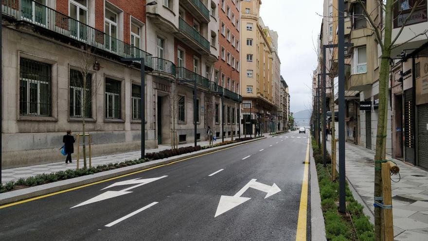 Una calle desierta.