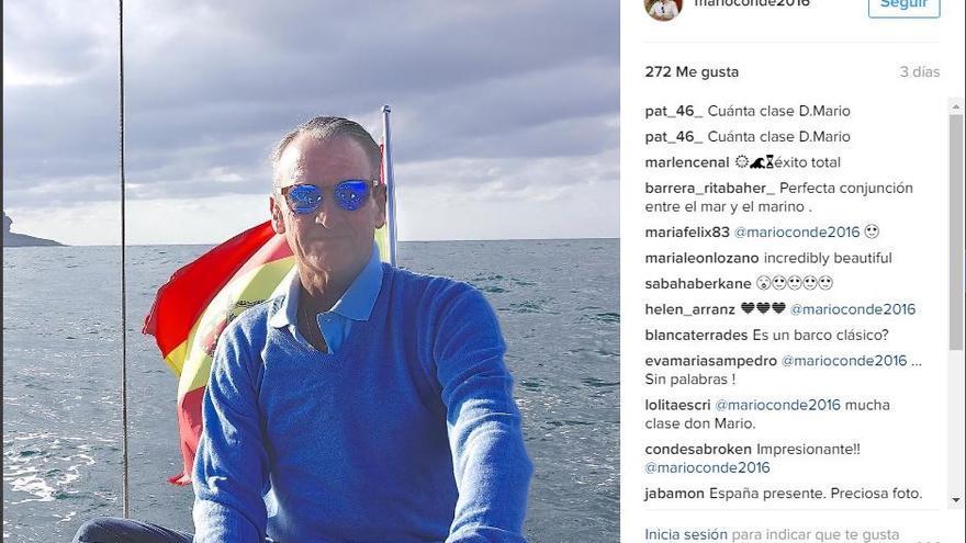 Mario Conde en una de sus publicaciones de la red social Instagram