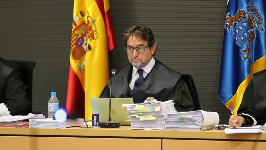 El magistrado Salvador Alba, en el juicio del caso Faycán. (ALEJANDRO RAMOS)