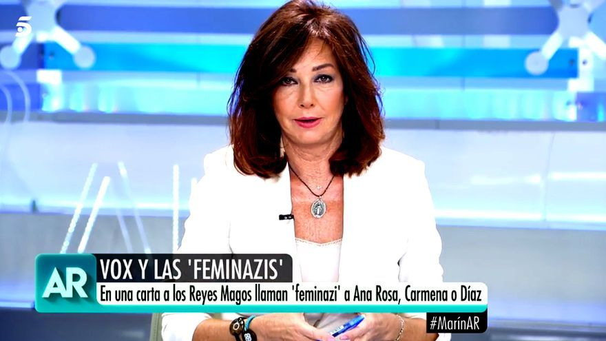 """Ana Rosa responde a la caricatura """"feminazi"""" que le dedicó Vox: """"No me ofende"""""""