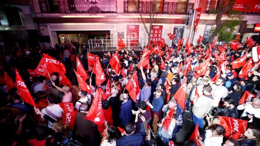 Victoria electoral socialista en 2019.