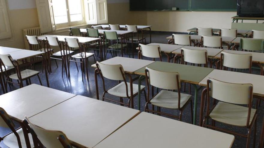 Una clase vacía.