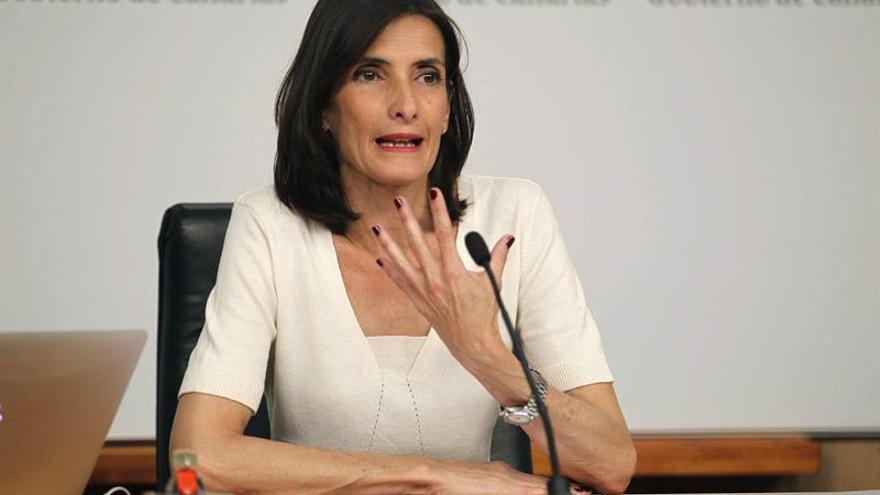 La consejera de Turismo y Cultura del Gobierno de Canarias, María Teresa Lorenzo.