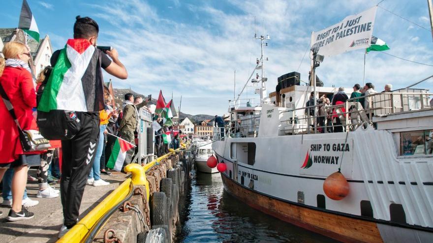 El pesquero Al Awda (El Retorno) navegará desde puertos escandinavos, por la costa atlántica europea, para adentrarse en aguas del Mediterráneo rumbo a Gaza. Fuente foto: rumboagaza.org.