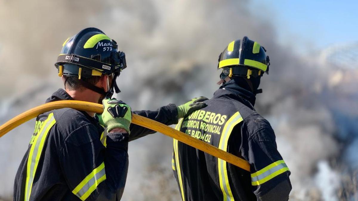 Actuación de bomberos del Consorcio Provincial