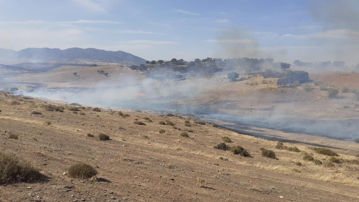 El fuego en Belalcázar