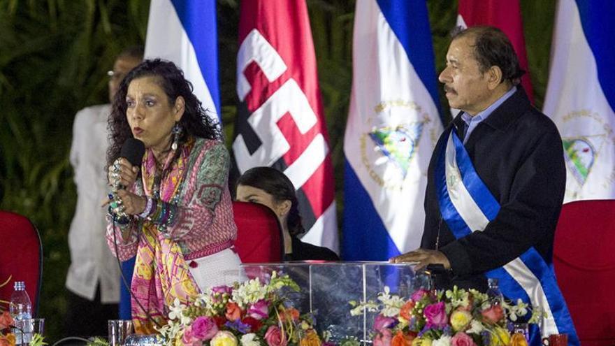 Imagen de archivo de la vicepresidenta de nicaragua, Rosario Murillo, y el presidente de nicaragua, Daniel Ortega