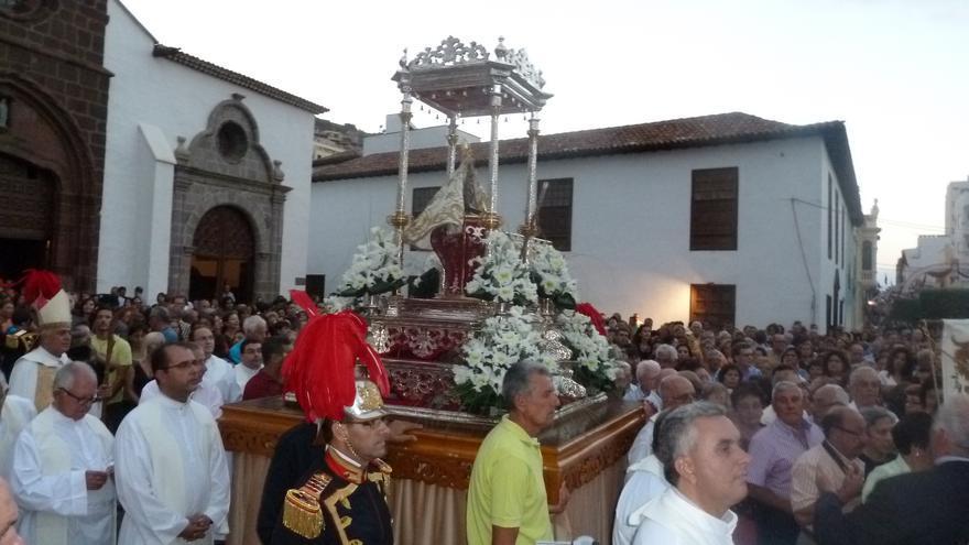 Procesión de la Virgen de Guadalupe en una fotografía de archivo
