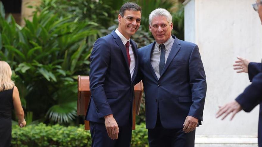 Sánchez afirma ante Díaz Canel que se solucionarán los impagos cubanos a empresas