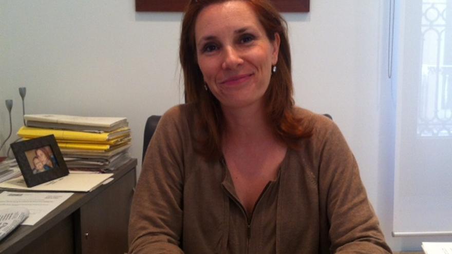 Eva Martínez, en su despacho de las Corts Valencianes.