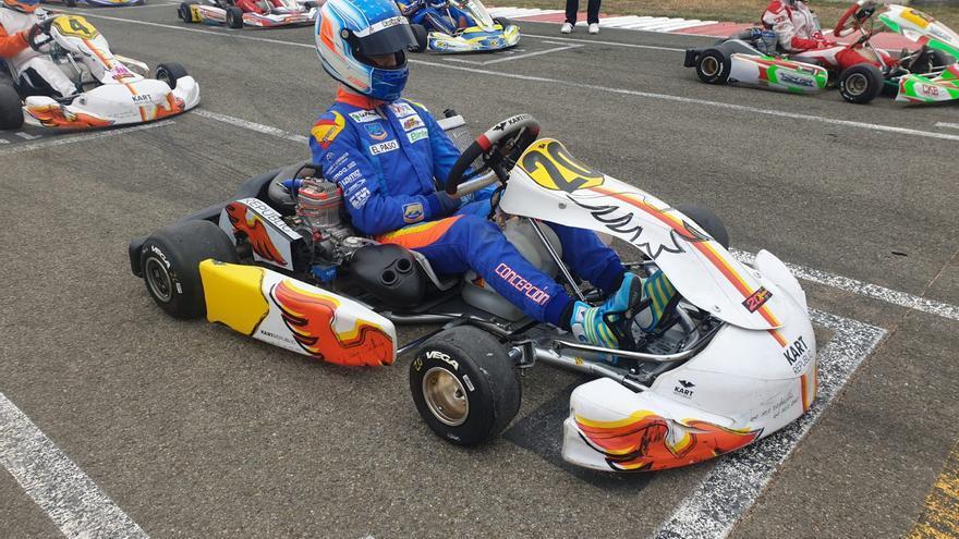 Santi Concepción Jr en el Circuito Lucas Guerrero de Chiva.