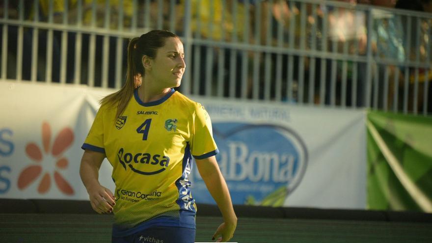 Melania Falcón, una de las jugadoras del Rocasa que defenderá el titulo de Liga.