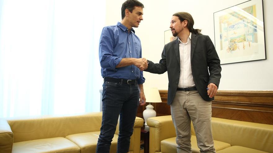 PSOE y Podemos tendrán su primera reunión de equipos el próximo lunes en el Congreso, presidida por Sánchez e Iglesias