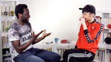 Moha Gerehou y Chenta Tsai, durante la entrevista en eldiario.es
