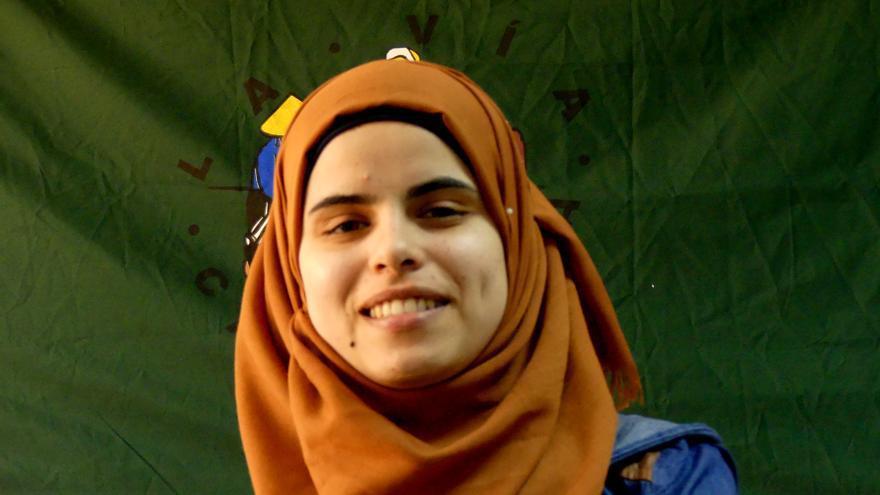 Hiba, responsable de relaciones internacionales en UAWC y estudiante de MBA en la universidad de Birzeit | AITOR LOBATO