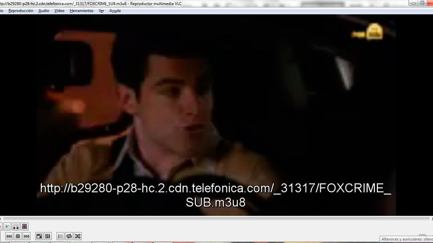 Captura de pantalla de la emisión en 'streaming' de Fox Crime (Foto: Hoja de Router)