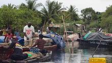 Owendo, ciudad portuaria de Gabón.