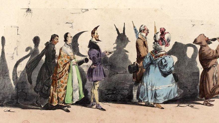 Ilustración de Grandville para el periódico satírico La Caricature, donde escribía Balzac en 1830. Fuente: Gallica. Biblioteca Nacional de Francia