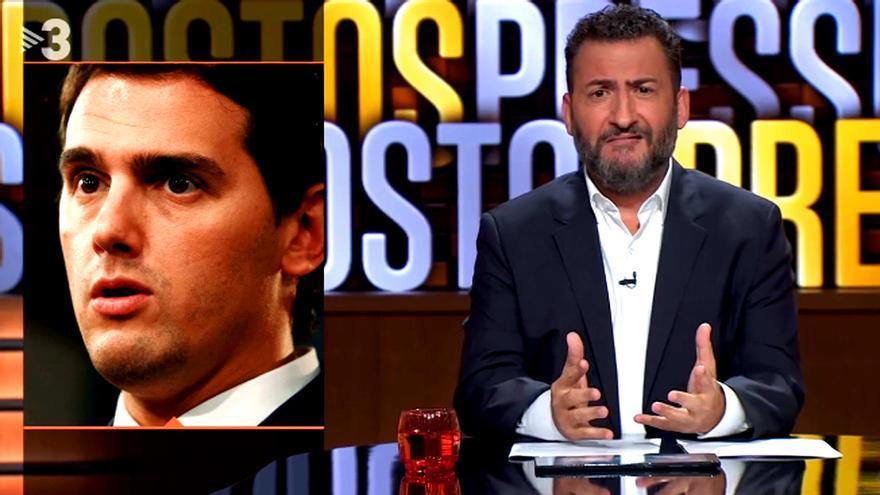 Toni Soler bromeó en TV3 con el incidente de Albert Rivera en El Prat