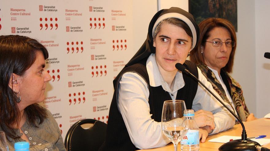 Teresa Forcades en un acto en el Centro Cultural Blanquerna de Barcelona / CCBlanquerna
