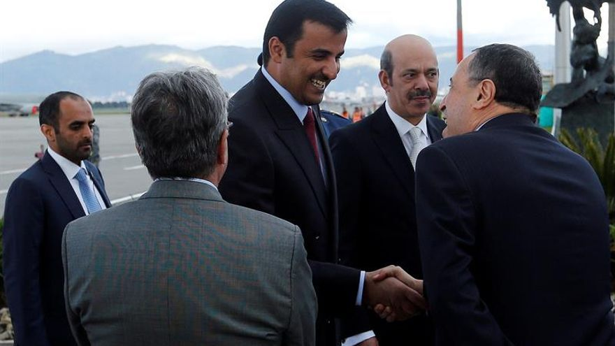 El emir de Catar llega a Colombia en visita oficial