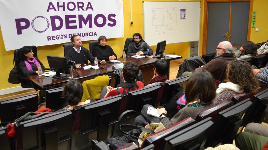 Presentación de la lista 'Ahora Podemos', candidata al Consejo Ciudadano regional de Podemos en Murcia