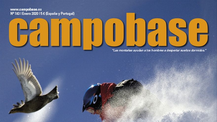 Campobase Nro. 183. enero. En portada el esquiador Jacopo Bufacchi en el Mont Blanc.