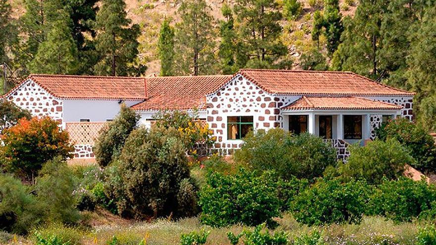 El Chalet ubicado en la Presa de Chira. (Cedida a Canarias Ahora).
