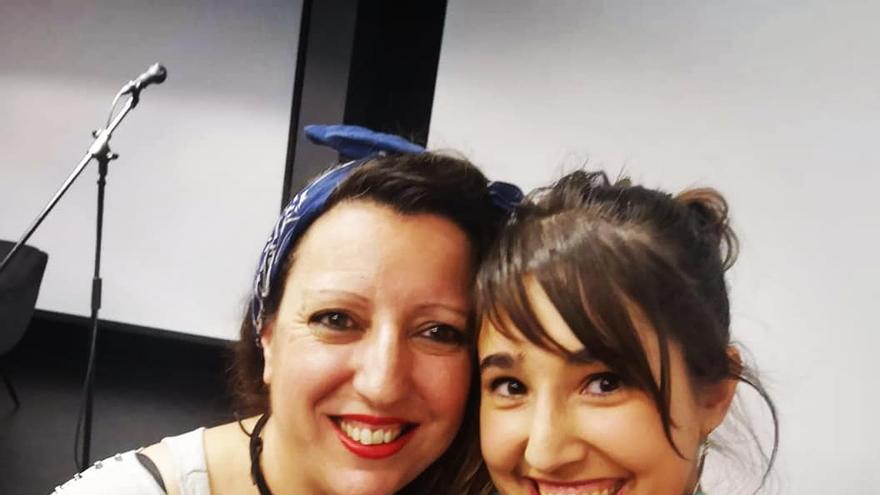 Ada Menéndez y Bea Royuela, coordinadoras del proyecto 'Nosotras creamos'.