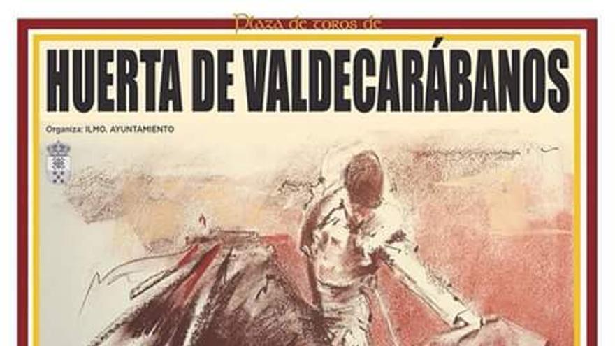 Cartel de las becerradas Huerta de Valdecarábanos (Toledo)