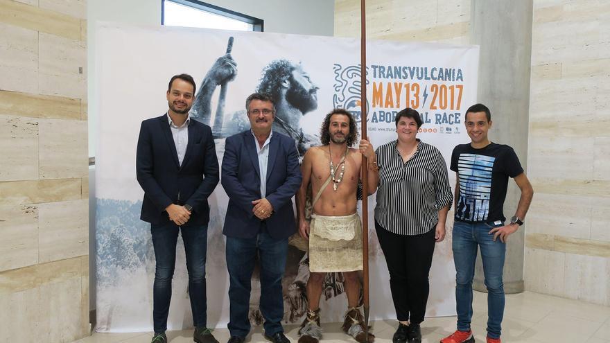 Presentación del cartel y el spot oficial de la novena edición de Transvulcania  dedicado a la cultura aborigen de La Palma y a los pobladores de la isla de hace más de 1.000 años, los auaritas.