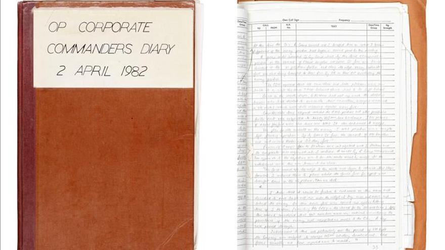 A la venta dos diarios de un militar británico durante la guerra de Malvinas