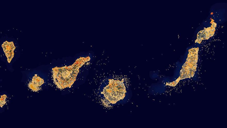 La distribución de las especies protegidas de Canarias, disponible en un mapa digital