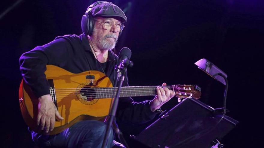 Silvio Rodríguez en un concierto en Madrid