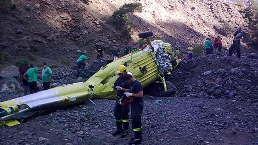 Del helicóptero accidentado #3