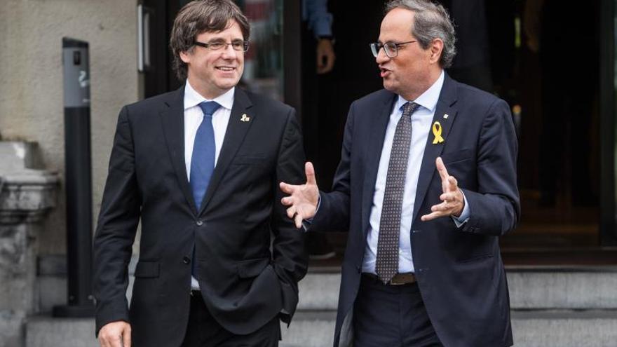 """Puigdemont recomienda """"ir con cuidado"""" a los partidos que flirtean con la violencia"""